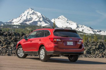 The Subaru Outback has excellent cargo space and a neat roof rail system that's perfect for skiing and other outdoor activities.