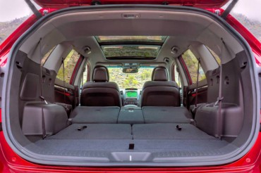A wide rear hatch opening and a large cargo area are big pluses.