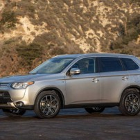 The 2015 Mitsubishi Outlander is a rugged, spacious SUV.