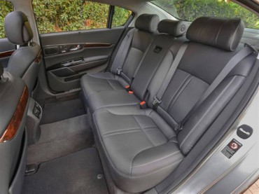 Rear seats recline with the VIP option. Space and comfort are impressive.