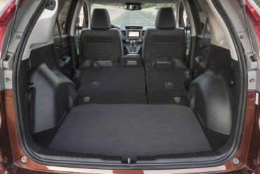 The cargo area is spacious with a flat deck and nearly flat folded second row seats.