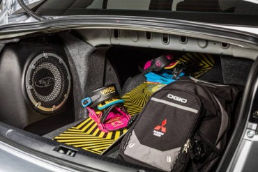 Trunk space is slightly compromised by the huge stereo speaker.