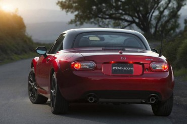 The slick retractable hardtop makes the MX-5 Miata an all-weather fun car.