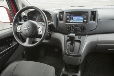 The interior is well-equipped as a mobile office with lots of storage and power points.