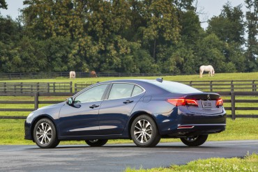 Styling is handsome, but typically a little conservative. This is the I-4 Acura TLX.