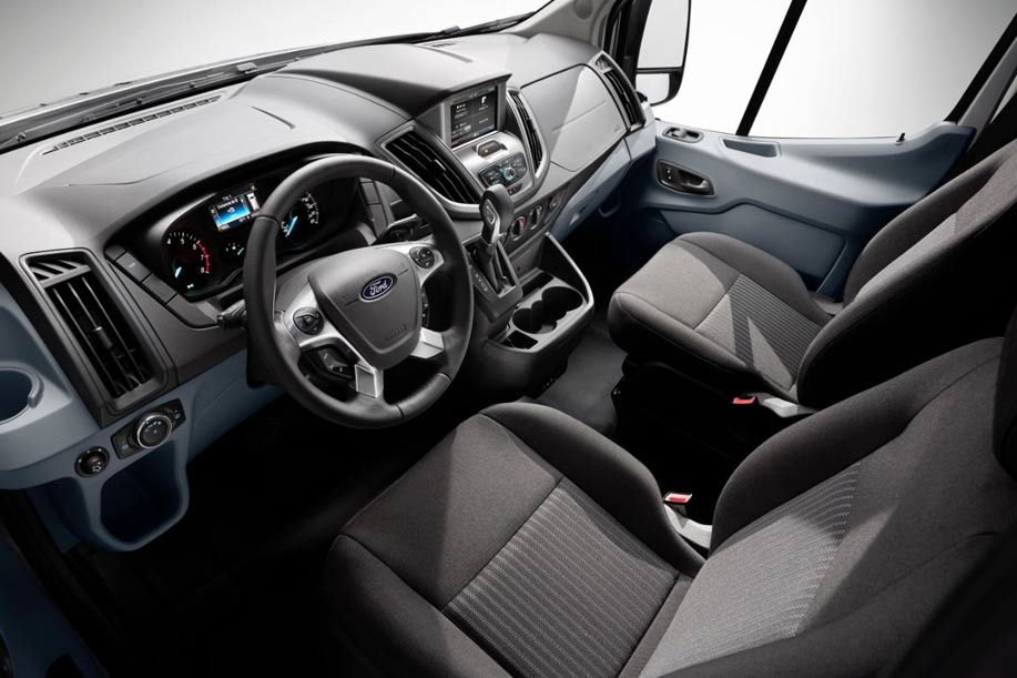 The Transit Interior Features Car Like Comfort And Great Storage Areas To  Serve As Mobile Office.