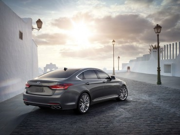The restyled for 2015 Genesis is as handsome as any sedan on the market.