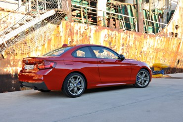 The 2015 BMW M235i coupe has xDrive all-wheel-drive for extra traction in all types of weather.