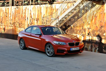 The 2015 BMW M235I coupe is aggressively styled to match its powerful performance.