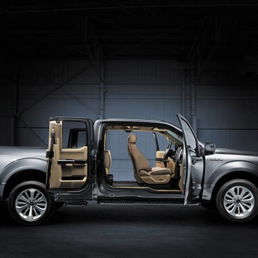 F-150 Supercab doors open extra wide for easy passenger and cargo access.