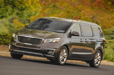 The Kia Sedona mini van is handsome with an almost SUV appeal.