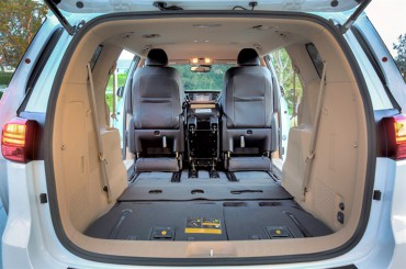 Cargo space is cavernous when the seats are folded down.