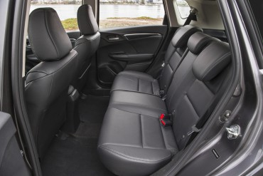 2015 Honda Fit rear seat is surprisingly roomy for big adults.