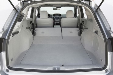 RDX cargo space is good, but there is a slope after the rear seats are folded down.