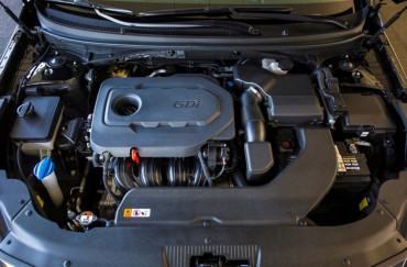 The Hyundai Sonata is available with several excellent four cylinder engines.