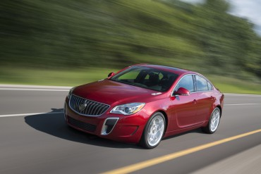 "2015 Buick Regal GS in Copper Red Metallic exterior color and equipped with 20""wheels and sunroof."