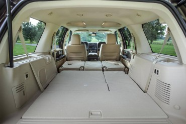 Power folding third row seats provide a great deal of cargo capacity and a flat floor.