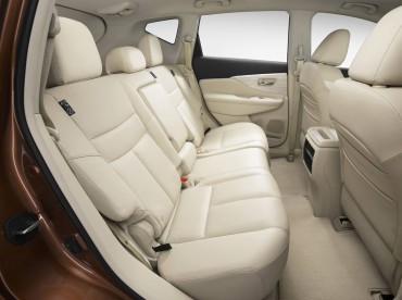 Nissan Murano rear seat space is excellent, too.