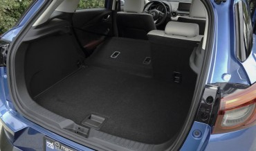 Cargo space is good with the split rear seats folded.