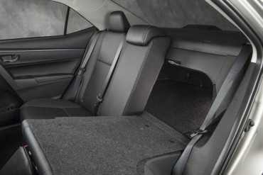 Backseat room is great. The split, folding seats provide excellent cargo versatility.