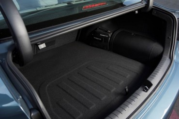 The Hyundai Plug-In loses  trunk space and fold-down rear seats in order to accommodate  its battery.