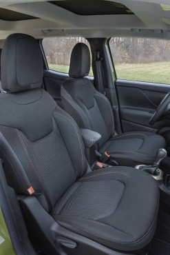 Front seat room is excellent and the cloth seats are comfortable and supportive.