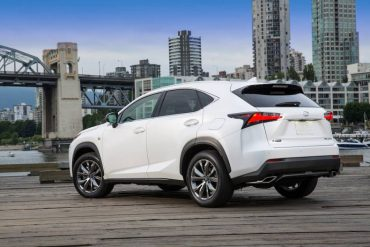 The Lexus NX 200t F Sport is handsomely styled especially the rear 3/4 view.