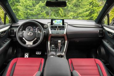 F Sport seats are great for long drives as is the thick leather steering wheel. Note the perforated pedals.