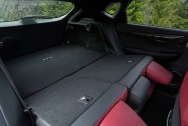 Total cargo area is OK given the sedan-like styling of the NX 200t.