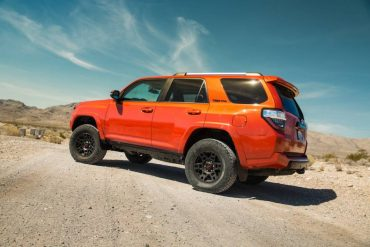 Aggressive wheels and tires plus ample ground clearance enhance the 4Runner's off-road prowess.