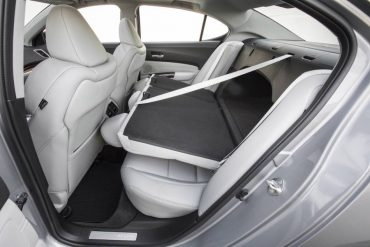 The split, folding rear seat provides cargo versatility, although the arched pass-through is somewhat limiting.