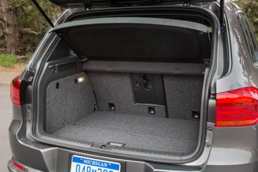 With the rear seats up cargo space is limited.