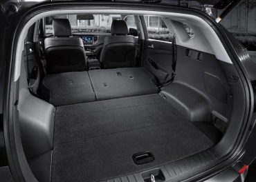Cargo space is good when the split rear seats are folded down.