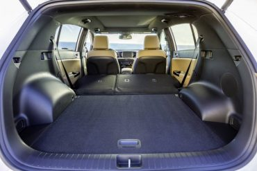 Cargo capacity is very good and flexible with the split folding rear seats and flat deck.