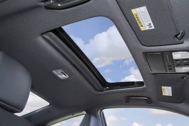 The power moonroof is a nice standard feature.