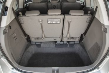 Third row seats easily store into a deep well that also provides great cargo space when the seats are up.