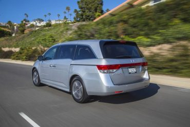 The Honda Odyssey is a great highway cruiser, especially for family vacations.