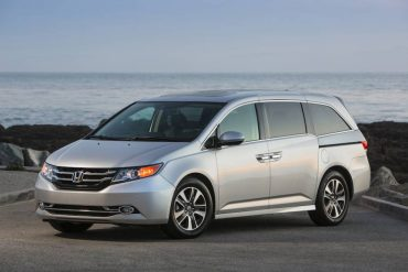 The 2016 Honda Odyssey van is handsomely styled. Doors are large and access is easy.