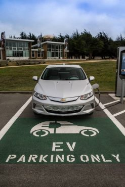 There can be special parking benefits to driving an electric vehicle.