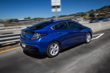 The Volt is a smooth highway cruiser. The stylish roof slope does hamper rear seat access.