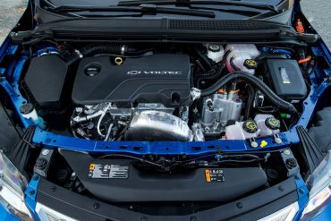 The combination of a small (1.5-liter) gas engine and two electric motors give the Volt great range.