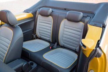 Rear seat is minimal. The split folding seats do add versatility to the very small trunk.