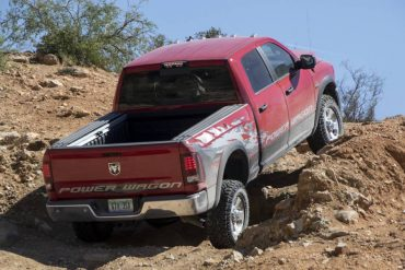 Ground clearance and axle/suspension upgrades help the Power Wagon conquer almost any hill.