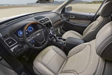 Interior comfort and style and highlights of the Platinum Explorer. Front seats and heated and cooled along with a massage feature.