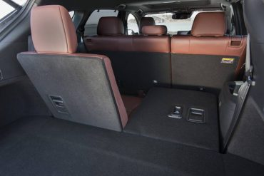 Second and third row seats are split to form a variety of seating/cargo configurations.