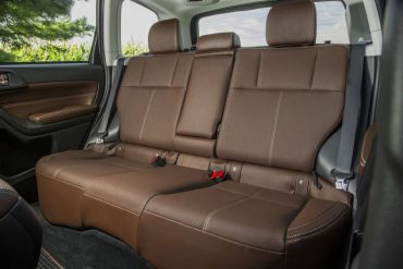 Forester rear seat is ample enough for three adults, although shoulder space can be snug.