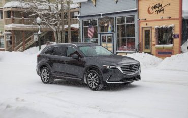 The Mazda CX-9 is an excellent snowy weather vehicle with lots of room for family and their gear.