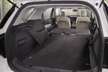 Cargo space is quite ample with the rear seats folded down.