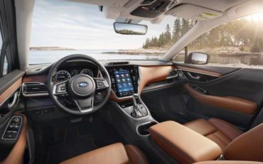 With its Java Brown Nappa leather seating, extra large touch screen, premium trim, and well-designed controls, the interior of the 2020 Subaru Outback Touring model is both attractive and usable.