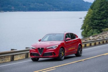 The 2019 Alfa Romeo Stelvio Quadrifoglio AWD is not only well styled, it offers a plethora of safety, tech, and convenience features.